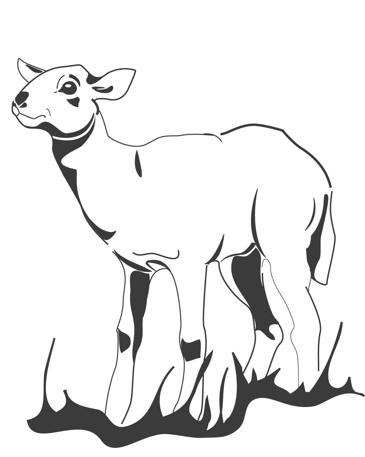 Free L Lamb Coloring Pages